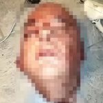 【閲覧注意】切断した男性の頭部をいろんな角度から撮影したグロ動画。