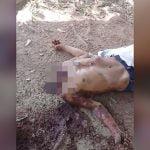 【閲覧注意】首を切断されて殺された男性の死体映像。