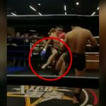 【閲覧注意】自分が放ったローキックで脚が折れてしまったMMAファイターの映像。