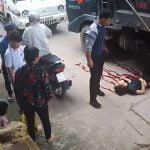 【衝撃映像】トラックに轢かれて幼い娘を残して死んでしまった母親の映像。