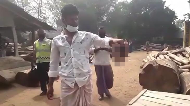 【閲覧注意】仕事場でなぜか顔が剥がれて死んでしまった男性のグロ動画。