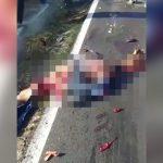 【閲覧注意】バイク事故で死亡した男性の身体、もうグッチャグチャ・・・。