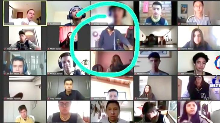 オンライン授業中、1人の女の子が強盗に襲われる事件映像。