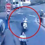 遮断器が頭にぶつかって死んでしまった男性の映像。
