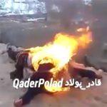 【閲覧注意】殺害した敵兵の身体に火を放つ映像。