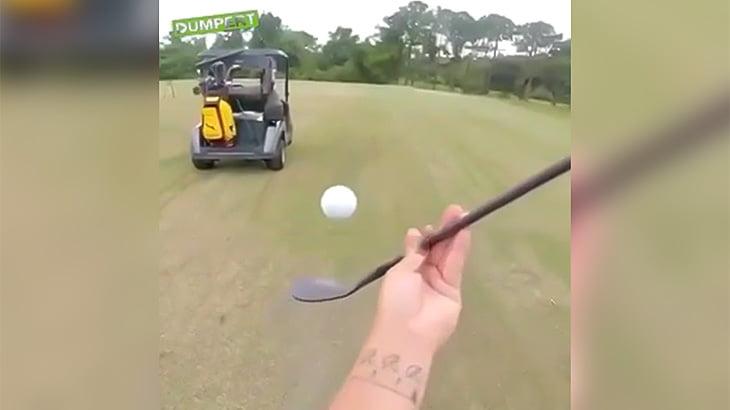 ゴルフボールを自在に操ることができる男の超絶テクニック映像。