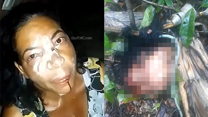 【閲覧注意】女性がギャングに首を切断されて殺される前と後を撮影したグロ動画。