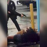 飼い主に噛み付いた3匹のピットブルが警官に撃ち殺される映像。