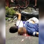 【閲覧注意】バイクで転倒して頭から脳がこぼれてしまった男の死体映像。