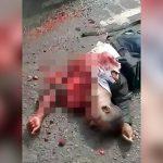 【閲覧注意】トラックに轢かれた男性の身体から飛び出した心臓がまだ動いているグロ動画。