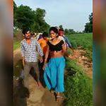 不倫した女さん、木の棒で叩かれながら村を歩かされる刑に処されてしまった映像。