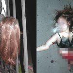 【閲覧注意】飛び降り自殺した女性がフェンスに突き刺さって胴体真っ二つになってしまったグロ画像。