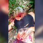 【閲覧注意】森の中で首を切断される女の子のグロ動画。