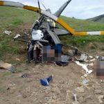 【閲覧注意】墜落したヘリのプロペラで身体をえぐられたような男性の死体映像。