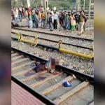 【閲覧注意】電車に轢かれて腕と脚を切断された状態で生き延びた男のグロ動画。