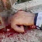 【閲覧注意】銃で撃たれて頭をグチャグチャにされた男性の死体映像。
