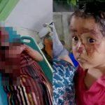 【閲覧注意】母親と父親が強盗に殺されて幼い娘だけが生き残ったグロ画像。