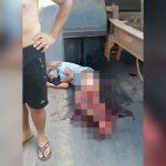 【閲覧注意】走行中のトラックの下に入り込んで自殺を試みた男の映像。