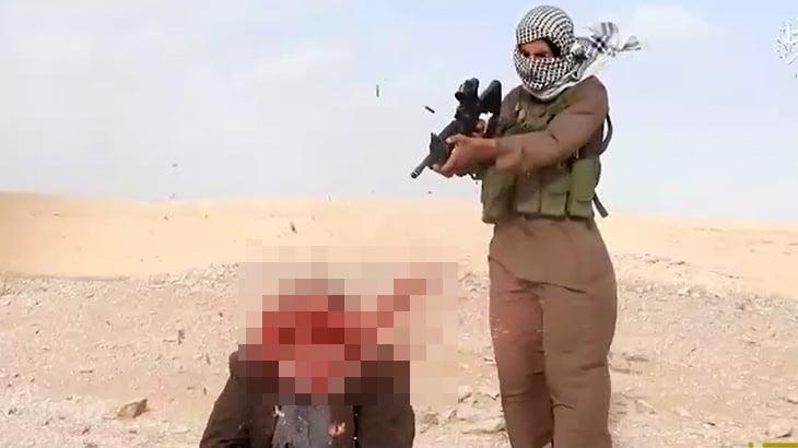 【閲覧注意】ISISが捕虜を銃殺したりナイフで首を切って殺したりするグロ動画。