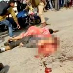 【閲覧注意】トラックに轢かれて内臓を押し出されてしまった男女の死体映像。