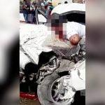 【閲覧注意】自動車事故で頭が割れて死亡した男性のグロ動画。