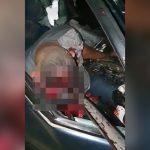 【閲覧注意】事故で頭に長い鉄板が突き刺さって死んでしまった男性の映像。