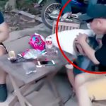 【ゲロ注意】マリファナ吸った男が友達の頭の上で吐いてしまう映像。