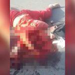 【閲覧注意】事故で胴体が潰れて心臓が飛び出してしまったグロ動画。