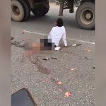 【閲覧注意】事故で下半身グチャグチャになった男性がスマホで通話してる映像。