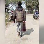 【閲覧注意】切断した妻の頭を持って歩く男の映像。