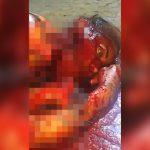 【閲覧注意】マチェーテで顔をズタズタにされた女性の死体映像。