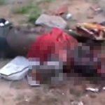 【閲覧注意】頭を石で叩き割られて殺された男のグロ動画。