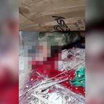 【閲覧注意】トラックのタイヤで頭を平たく潰されてしまった男性の映像。