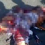 【閲覧注意】トラックのタイヤで頭を潰され内臓が飛び出た男のグロ動画。