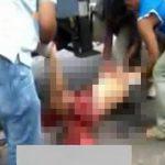 【閲覧注意】トラックに身体を引き裂かれた男性の死体映像。