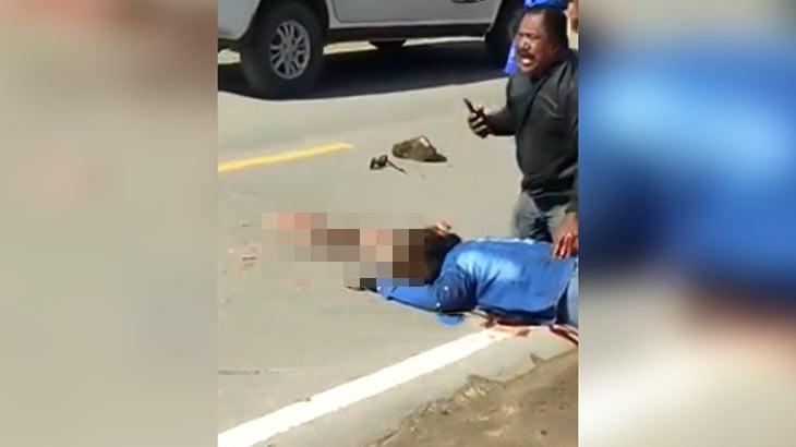 【閲覧注意】バイク同士の衝突事故で頭から脳が飛び出して死んでしまった女性の映像。