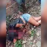 【閲覧注意】彼氏にマチェーテで首をズタズタにされた女性の死体映像。