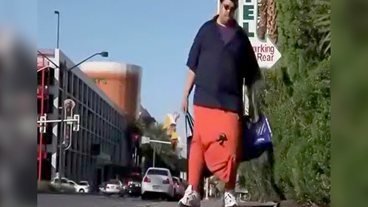金玉でかすぎる男性の日常を撮影した映像。