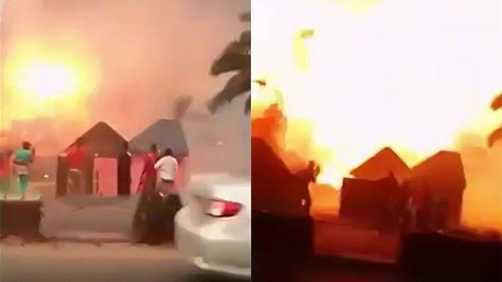 【閲覧注意】ガソリンスタンドの爆発で多くの人が全身を火傷してしまった映像。