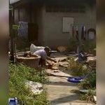【閲覧注意】殺した母親の舌をマチェーテで切断する男の映像。