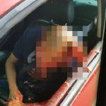 【閲覧注意】車の中でショットガン自殺してたからスマホで撮影したよ!