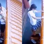 女子高生が彼氏にクンニされる様子を監視カメラで撮影されちゃった映像。