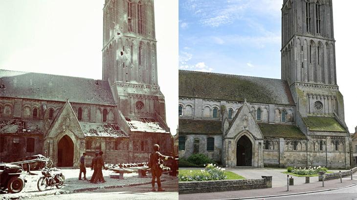 フランス・ノルマンディーの第二次世界大戦中と現在を比較した画像集