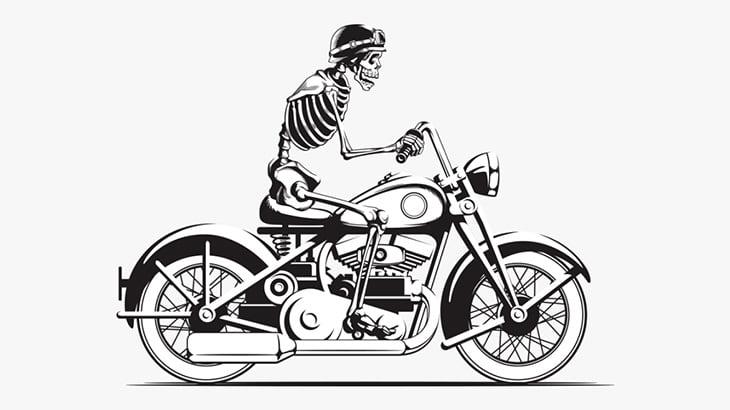 【閲覧注意】バイク事故でここまで身体バラバラになる・・・?(動画)