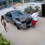 【動画】とある黒人男性によるボコボコになった車のボンネットの直し方