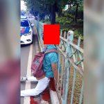 【閲覧注意】顔が柵に突き刺さって死んでしまった男性(動画)