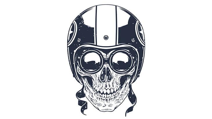 【閲覧注意】バイカーの男性、ヘルメットしてたのに頭が割れて死んでしまう・・・(動画)