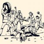 【閲覧注意】盗みを働いた者はマチェーテで切り刻まれて燃やされる国、アフリカ(動画)