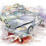 【閲覧注意】事故で死んだ女性、胸から内臓がごっそり飛び出してしまう・・・(動画)