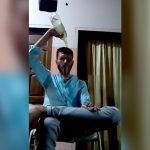 アルコールを身体に浴びて火を点けて自殺する様子を自撮りした男(動画)